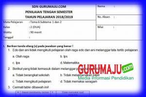 Soal UTS / PTS Kelas 2 Semester 2 Kurikulum 2013
